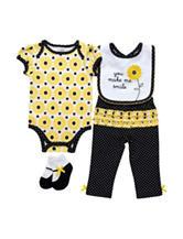 Baby Gear 4-pc. Yellow Daisy Bodysuit Set – Baby 0-12 Mos.