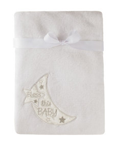 Baby Starters Bless This Baby Plush Blanket