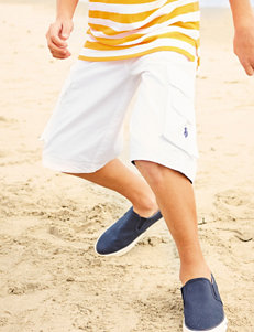 U.S. Polo Assn. White Belted Twill Shorts – Boys 8-20