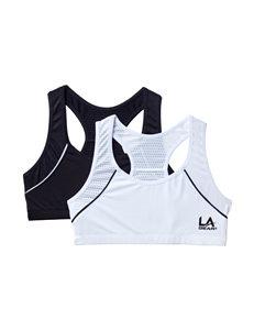 L.A. Gear 2-pk. Solid Color Basic Sports Bra Set – Girls