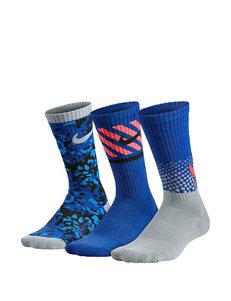 Nike® 3-pk. Multi-Graphic Crew Socks – Boys