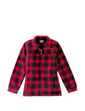 Columbia Red Lumberjack Buffalo Plaid Fleece Jacket – Boys 8-20