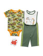 Baby Gear 4-pc. Multicolor Camo Bodysuit & Leggings Set – Baby 3-12 Mos.