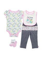 Baby Gear 4-pc. Multicolor Floral Print Bodysuit Set – Baby 0-12 Mos.