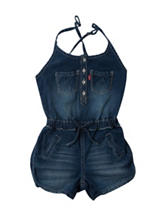Levi's® Claire Dark Wash Denim Romper – Girls 7-16
