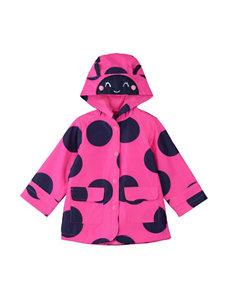 Carter's® Pink & Navy Ladybug Raincoat – Toddler Girls