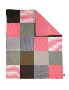 Trend Lab Cocoa Coral Multi-Patched Receiving Blanket