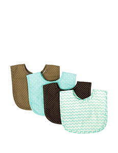 Trend Lab 4-pk. Cocoa Mint Bib Set