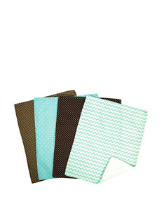Trend Lab 4-pk. Cocoa Mint Burp Cloth Set