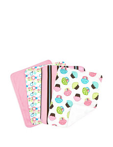 Trend Lab 4-pk. Cupcake  Burp Cloths