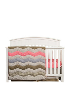 Trend Lab 3-pc. Cocoa Coral Crib Bedding Set