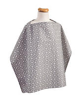 Trend Lab Ombre Grey Greek Key Print Nursing Cover
