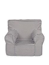 Trend Lab Ombre Grey Chevron Petite Accent Foam Chair