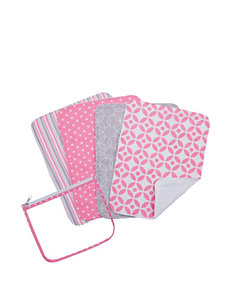 Trend Lab Lily 4-pk. Burp Cloth Zip Pouch Set