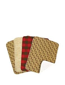 Trend Lab Northwoods Animal Scatter Print 4-pk. Burp Cloths