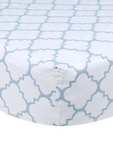 Trend Lab Blue Sky Quatrefoil Fitted Crib Sheet