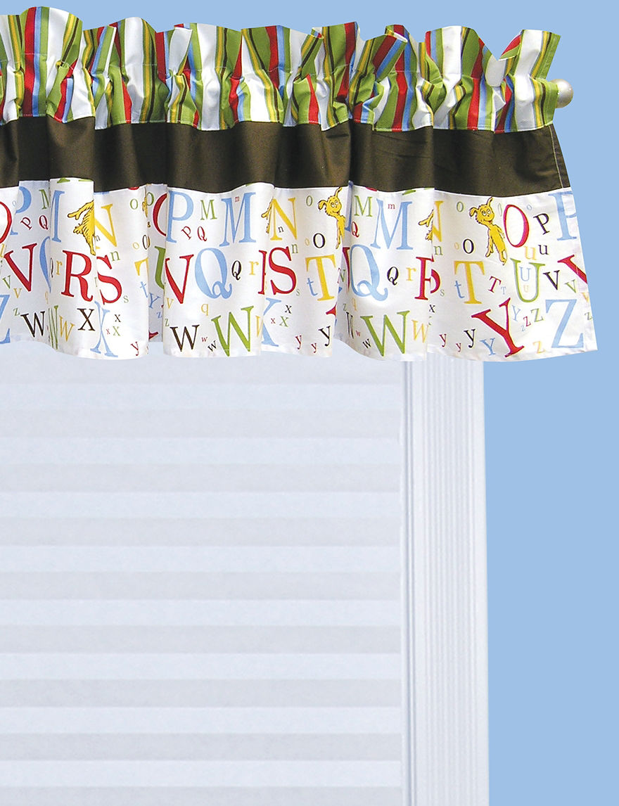 Licensed Red / White Valances Window Treatments