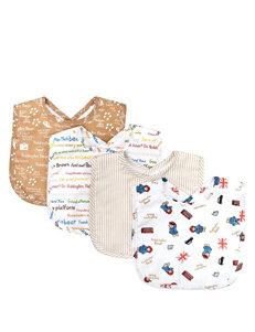 Licensed Brown Bibs & Burp Cloths
