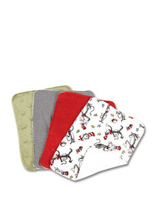 Dr. Seuss The Cat in the Hat 4-pk. Burp Cloth Set by Trend Lab