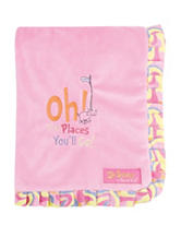 Dr. Seuss Pink Oh, The Places You'll Go! Ruffle Trimmed Receiving Blanket by Trend Lab