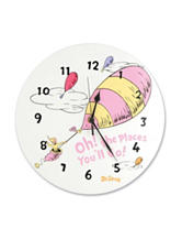 Dr. Seuss Pink Oh, The Places You'll Go! Wall Clock by Trend Lab