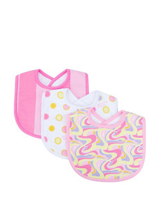 Dr. Seuss Pink Oh, The Places You'll Go! 3 Pack Bib Set by Trend Lab