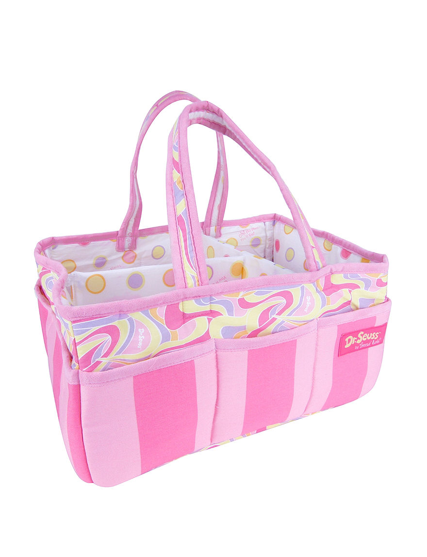 Licensed Pink / White Carriers & Totes Diaper Bags