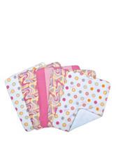 Dr. Seuss Pink Oh, The Places You'll Go! 5-pk. Burp Cloth Bundle Box Set by Trend Lab