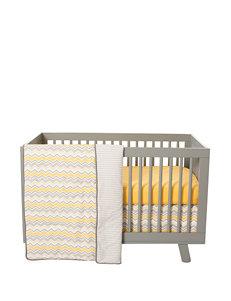 Trend Lab 3-pc. Buttercup Zigzag Crib Bedding Set
