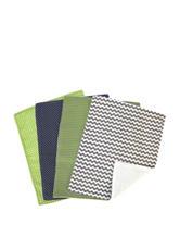 Perfectly Preppy 4-pk. Burp Cloth Set by Trend Lab