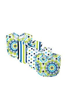 Waverly Blue / Green Bibs & Burp Cloths