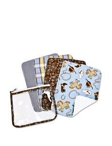 Trend Lab 4-pk. Baby Barnyard Cowboy Baby Zip Pouch Burp Cloth Set