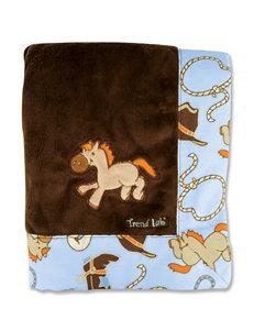 Trend Lab Cowboy Baby Velour Receiving Blanket
