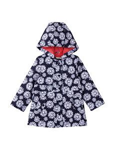 OshKosh B'gosh Navy & White Floral Print Raincoat – Toddler Girls