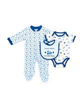 Baby Gear 3-pc. Blue Thank Heaven For Little Boys Sleeper Set— Baby 3-6 Mos.