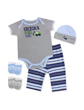 Baby Essentials 5-pc. Chicks Dig Me Gift Set - Baby 0-6 Mos.