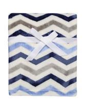 Baby Starters Tonal Blue Chevron Blanket