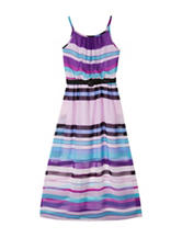 A. Byer Multicolor Striped Maxi Dress – Girls 14-20 Plus
