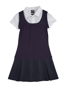 French Toast Layered-look Jumper Dress - Girls 4-14