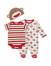 Baby Starters 3-pc. Sock Monkey Sleeper Set – Baby 3-9 Mos.