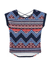 Pinky Multicolor Chevron Hacci Top – Girls 7-16