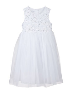 Marmellata Floral Bodice & Tulle Flower Girl Dress – Toddler & Girls 4-6