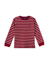 U.S. Polo Assn. Striped Thermal Shirt – Toddler Boys