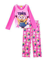 Despicable Me 2-pc.Tres Pajama Set – Girls 4-10