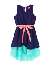 Pinky Belted Chiffon Dress – Girls 7-16