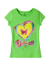 Twirl Neon Kiwi Butterfly Love T-shirt – Girls 4-6x