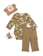 Baby Gear 4-pc. Camo Print Bodysuit Set – Baby 0-12 Mos.
