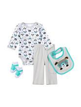 Baby Gear 4-pc. Dog Print Bodysuit Set – Baby 0-12 Mos.