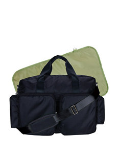 Trend Lab Black /  Green Diaper Bags