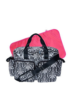Trend Lab Pink / White / Black Diaper Bags